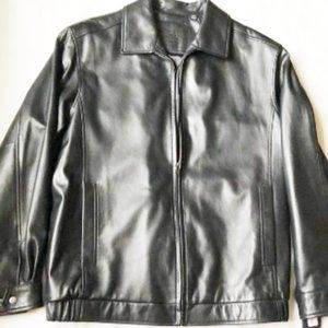 Jacket mens new size 2XT genuine lambskin black